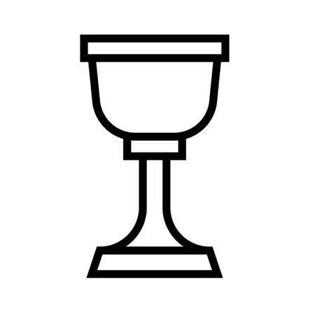 Holy grail icon, Saint patrick's day related vector illustration Vettoriali
