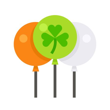 Balloons icon, Saint patricks day related vector illustration Ilustracja