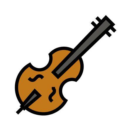 Violin icon, Saint patricks day related vector illustration