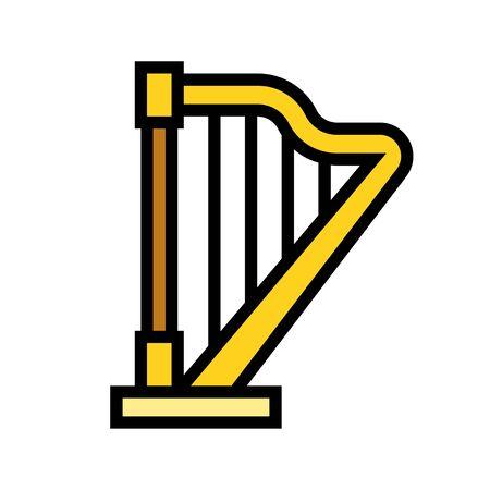 Harp icon, Saint patricks day related vector illustration