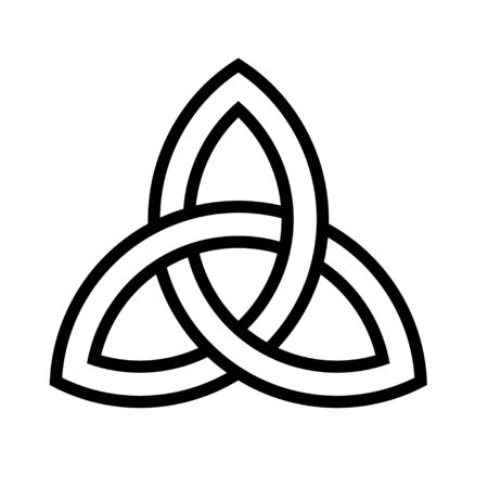 Celtic knot icon, Saint patrick's day related vector illustration
