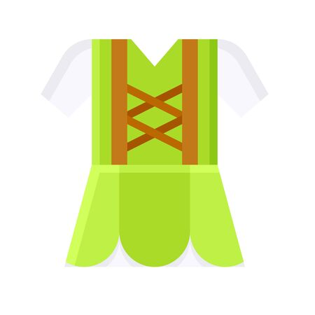 Ireland traditional clothing icon, Saint patricks day related vector illustration