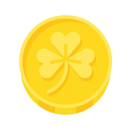 Coin icon, Saint patricks day related vector illustration