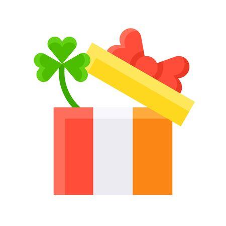Gift box icon, Saint patricks day related vector illustration Ilustrace