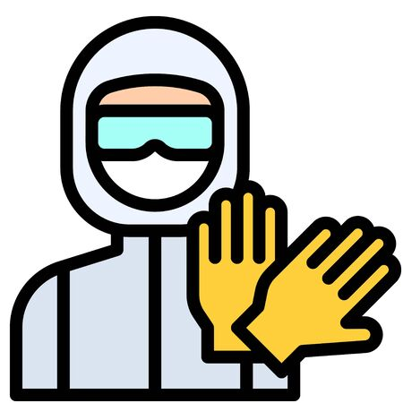 Personal protective equipment vector illustration, filled design icon