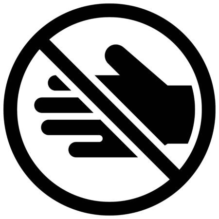 Do not touch sign vector illustration, solid design icon