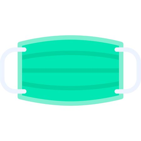Surgical mask vector illustration, flat design icon Illustration