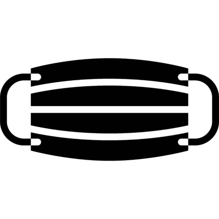 Surgical mask vector illustration, solid design icon