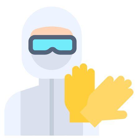 Personal protective equipment vector illustration, flat design icon
