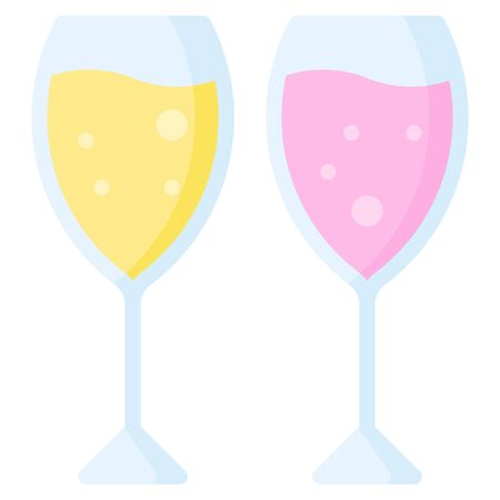 Sparkling wine icon, Beverage flat style vector illustration