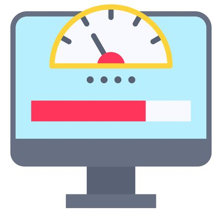 Network bandwidth, Telecommuting or remote work related icon