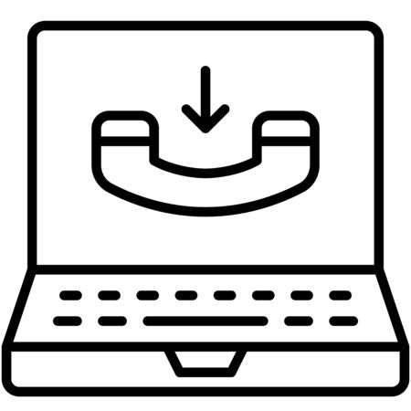 Receive call, Telecommuting or  remote work related icon