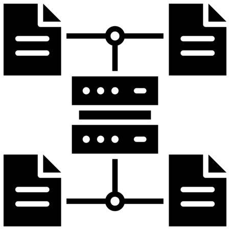 File server, Telecommuting or  remote work related icon Foto de archivo - 150443793