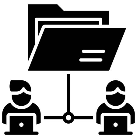 File sharing, Telecommuting or remote work related icon, vector illustration Foto de archivo - 150443860
