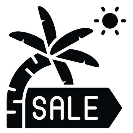 Palm tree icon, Summer sale related vector illustration