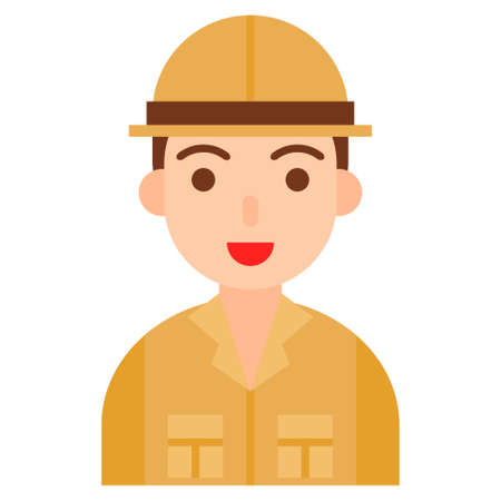 Archaeologist icon, profession and job related vector illustration