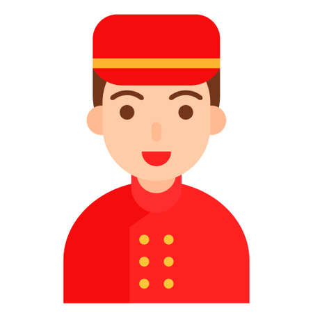 Bellhop icon, profession and job related vector illustration