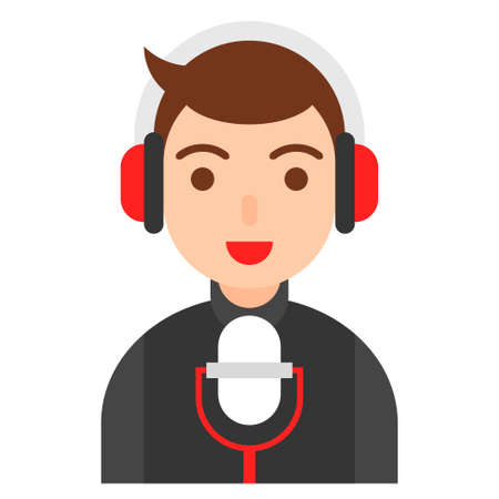 Voice actor icon, profession and job related vector illustration Vector Illustration
