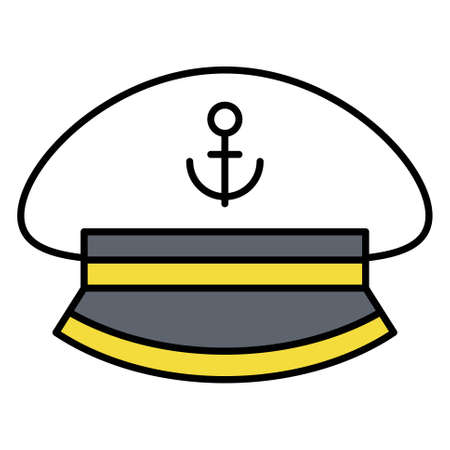 Peaked cap icon, Summer vacation related vector illustration