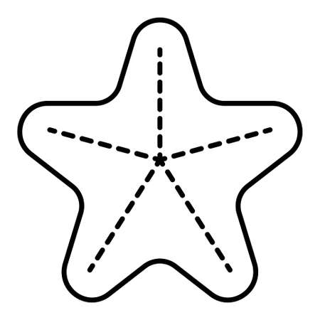 Sea stars icon, Summer vacation related vector illustration