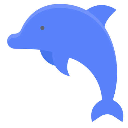 Dolphin icon, Summer vacation related vector illustration