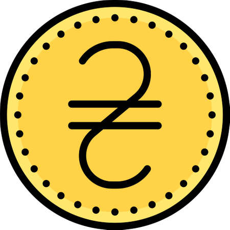 Ukrainian hryvnia coin, national currency of Ukraine since 2 September 1996