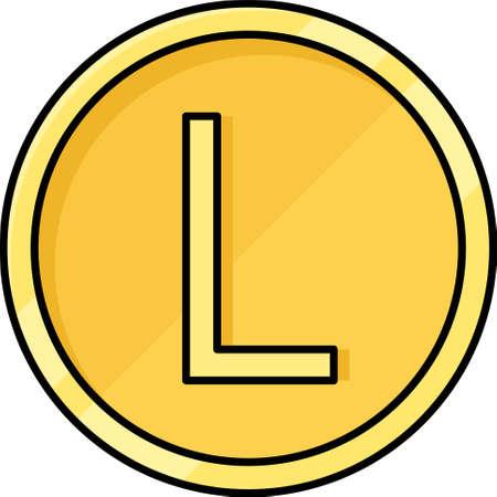 Honduran lempira coin vector icon, currency of Honduras