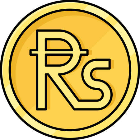 Rupee coin icon, common name for the many countries currencies