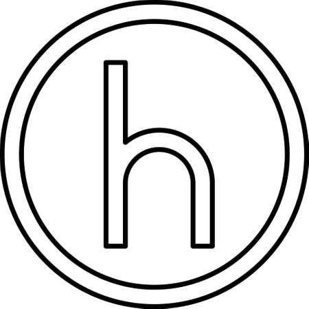 Heller coin, originally a German coin valued at half a pfennig 向量圖像
