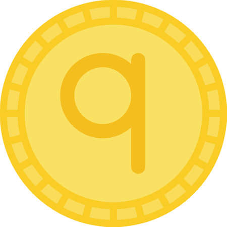 Albanian qindarkë coin icon, currency of Albania
