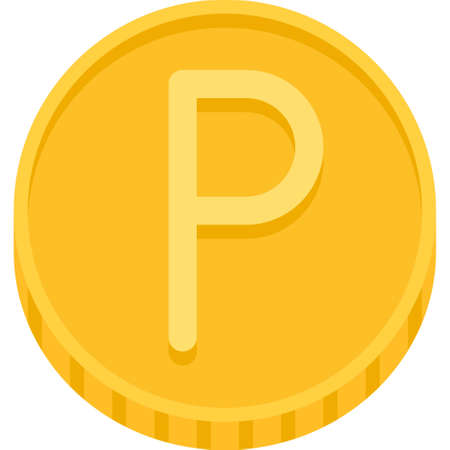 Penny sterling or penny coin, subdivision of pound sterling 向量圖像