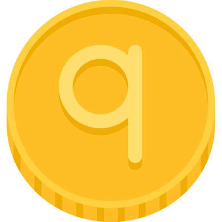 Albanian qindarkÃ« coin icon, currency of Albania Vektorové ilustrace