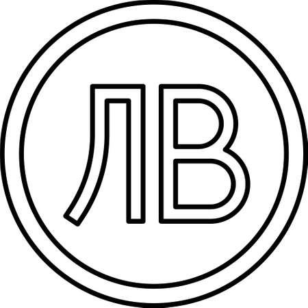 Bulgarian lev coin vector icon, currency of Bulgaria