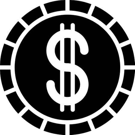 Cape Verdean escudo coin icon, currency of the Republic of Cape Verde Vectores