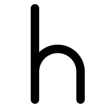 Heller sign, originally a German coin valued at half a pfennig