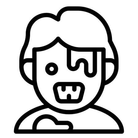 Zombie avatar icon, Halloween costume vector illustration