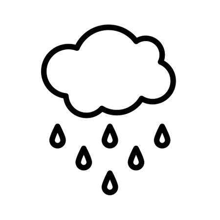 Rain cloud icon, Thanksgiving related vector illustration 矢量图像