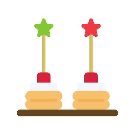 Canape icon, Christmas food and drink vector illustration