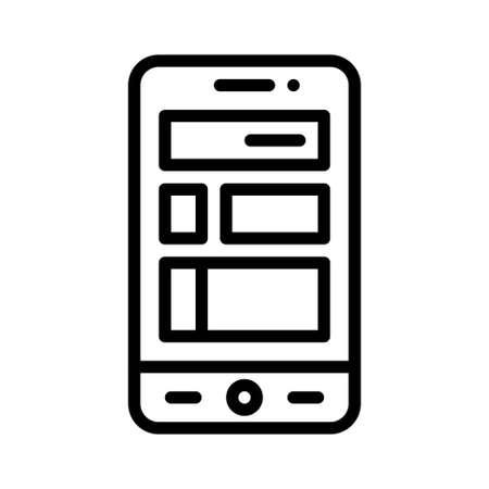 Mobile phone features icon, Mobile application related vector illustration