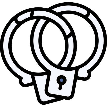 Handcuffs icon, Bankruptcy related vector illustration