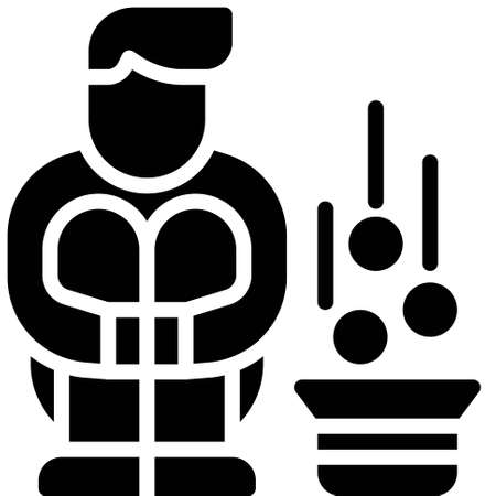 Beggar icon, Bankruptcy related vector illustration