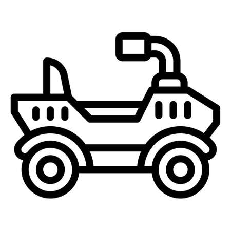 All terrain vehicle icon, transportation related vector illustration