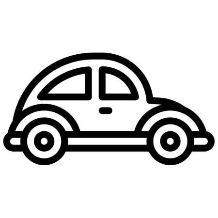 Sedan icon, transportation related vector illustration