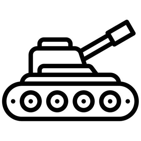 Tank icon, transportation related vector illustration Illustration