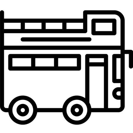 Double-decker bus icon, transportation related vector illustration