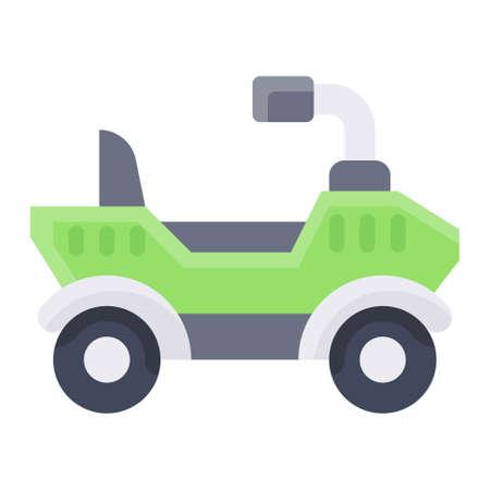 All terrain vehicle icon, transportation related vector illustration Illustration
