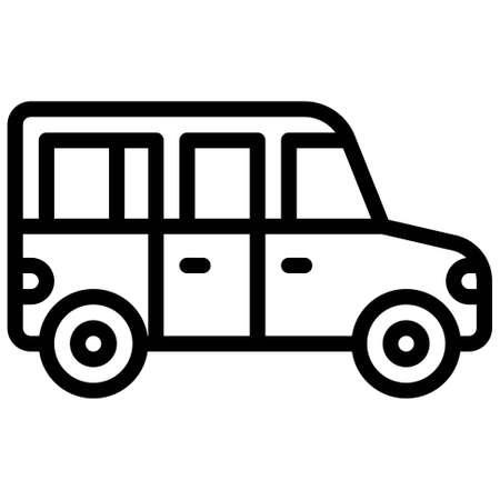 SUV icon, transportation related vector illustration Illustration