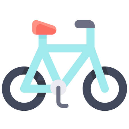 Bicycle icon, transportation related vector illustration Illustration