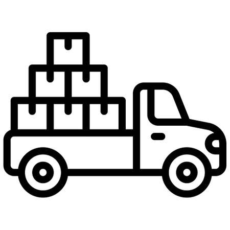Truck icon, transportation related vector illustration Illustration