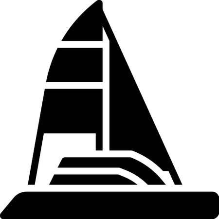Sailboat icon, transportation related vector illustration Illustration
